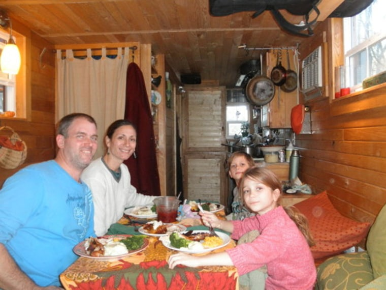 The Berzins live in a 168 square foot home.