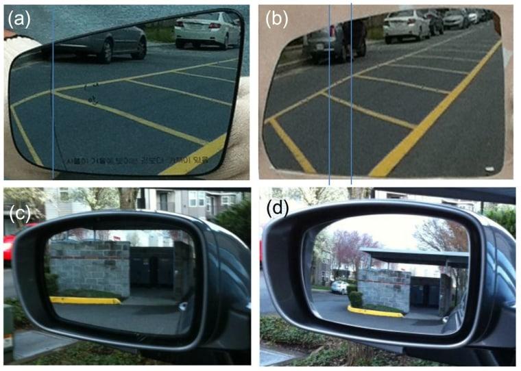 Image comparing mirrors
