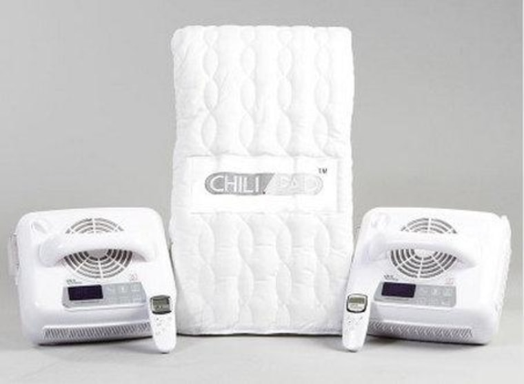 The ChiliPad mattress pad has dual zones, and can heat a bed to 118 degrees or cool it down to 46.