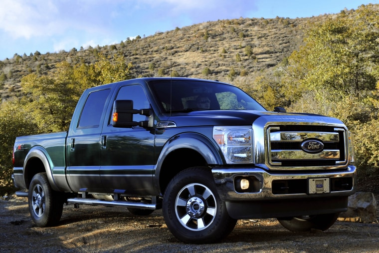 In this March 2, 2010 photo provided by Ford Motor Co., the 2011 Ford F-250 Super Duty is shown. This truck has new available off-road features, inclu...