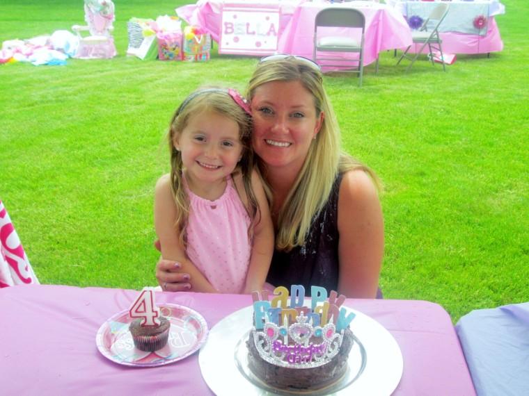Christina Moon and daughter