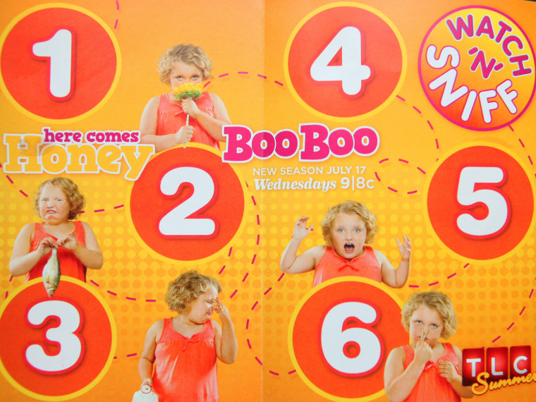"""Image: \""""Honey Boo Boo\"""" scratch-and-sniff card"""