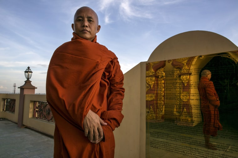 Wirathu is the leader of a Buddhist extremist movement known as 969. He was once jailed for anti-Muslim violence and believes it is vital that Buddhist people keep their business, relationships and land dealings away from followers of Islam.