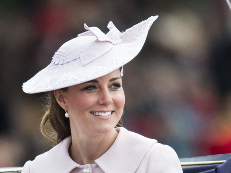 LONDON, ENGLAND - JUNE 15:  Catherine, Duchess of Cambridge during the annual Trooping The Colour ceremony at Buckingham Palace on June 15, 2013 in Lo...