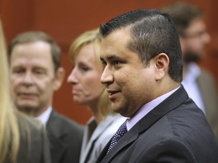 George Zimmerman leaves the courtroom after the verdict.