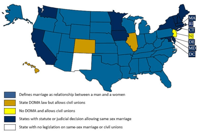 from Jonael states that do not allow gay marriage