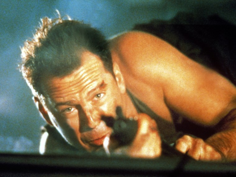 "Bruce Willis in ""Die Hard."""