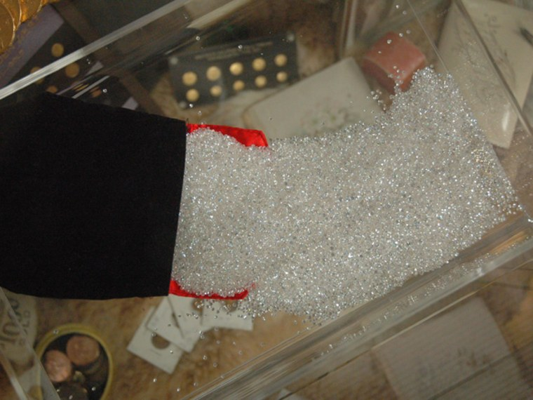 This bag of diamonds, estimated to be worth $500,000, is among the unclaimed property being held by the California Controller's Office.