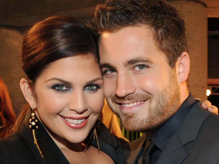 NASHVILLE, TN - NOVEMBER 08: Hillary Scott of Lady Antebellum and Chris Tyrrell attend the 59th Annual BMI Country Awards on November 8, 2011 in Nashv...