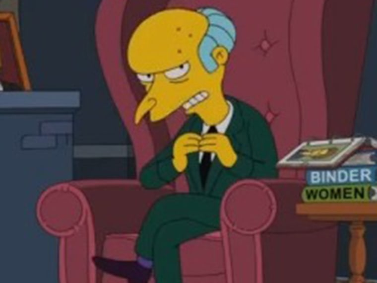 """Image: Mr. Burns of """"The Simpsons"""""""