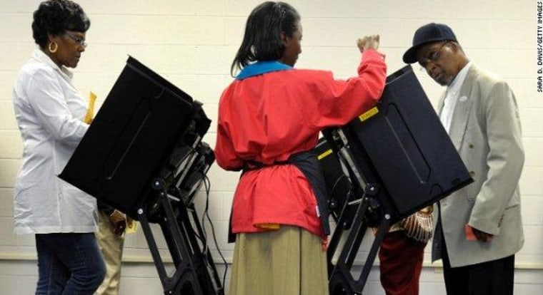 Voters take advantage of early-voting opportunities in North Carolina in 2012.