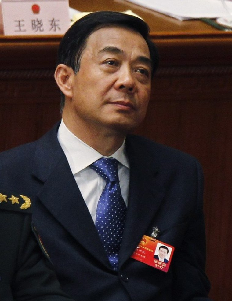 Chinese politician Bo Xilai, seen in this December 2012 file photo.