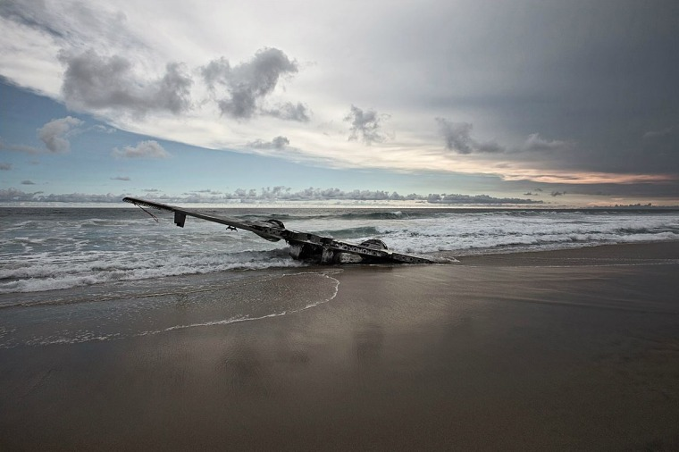 Grumman Albatross near Puerto Escondido, Mexico. According to local news reports, the plane was suspected of involvement in drug trafficking and was forced to land in 2004 when it was intercepted by two government planes. All aboard survived. It is unclear whether the occupants of the plane were found to be involved in the drug trade.