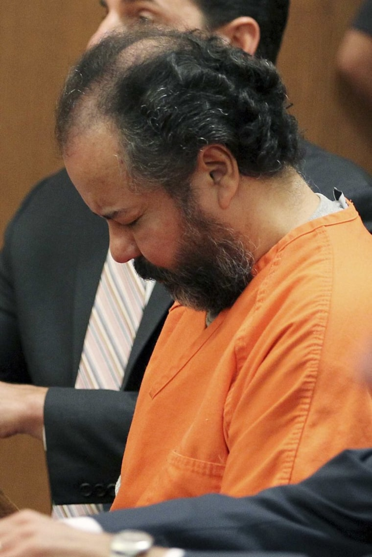 Ariel Castro at a pretrial hearing on Wednesday.