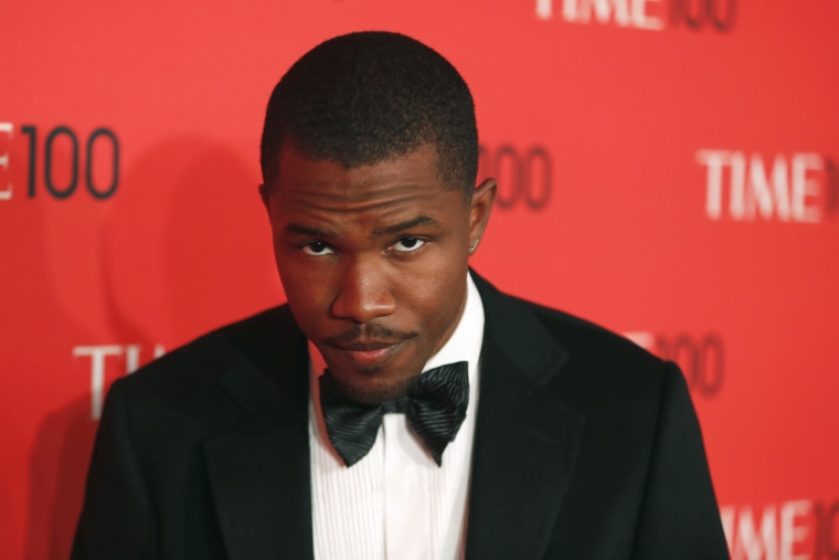 Singer Frank Ocean arrives for the Time 100 gala celebrating the magazine's naming of the 100 most influential people in the world for the past year, ...