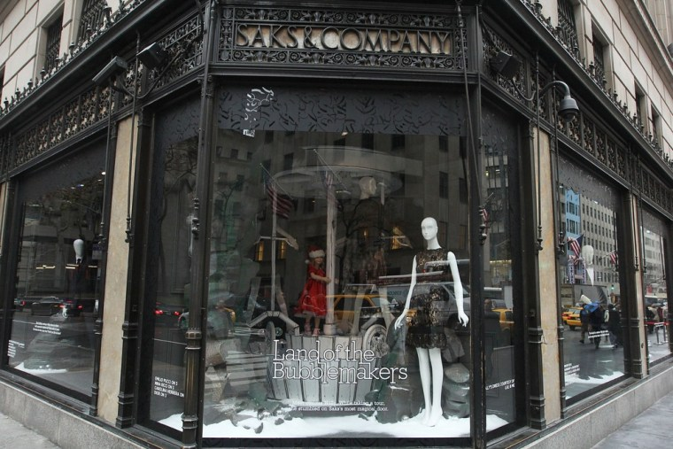 Exterior view of the 2011 Holiday Windows at Saks on November 23, 2011 in New York City.