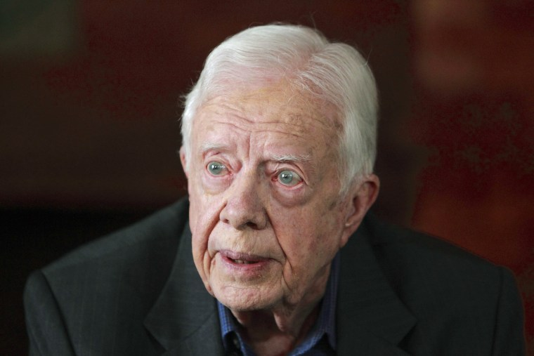 The White House on Monday clarified it was not confirming that former President Jimmy Carter was planning a trip to North Korea to help negotiate the release of an American prisoner.