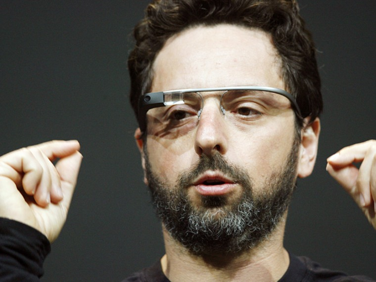 (FILES) Sergey Brin, co-founder of Google, introduces the Google Glass Explorer edition during Google's annual developer conference in this June 27, 2...
