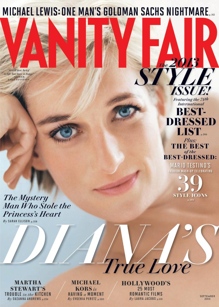 Princess Diana's 'true love' explored in Vanity Fair's September issue