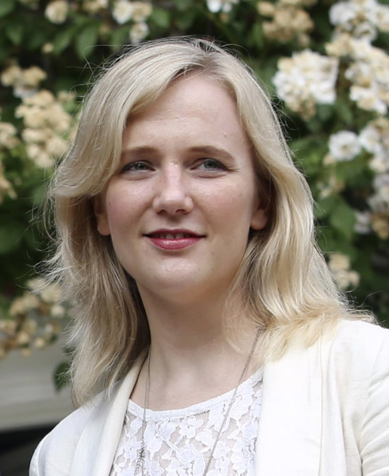 Stella Creasy, a UK lawmaker who was threatened with rape and murder on Twitter, seen here on Friday.