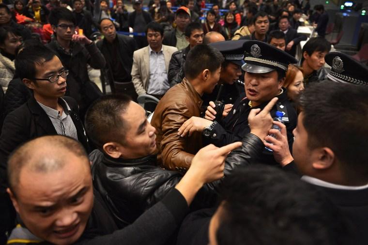 Chinese airport stuck