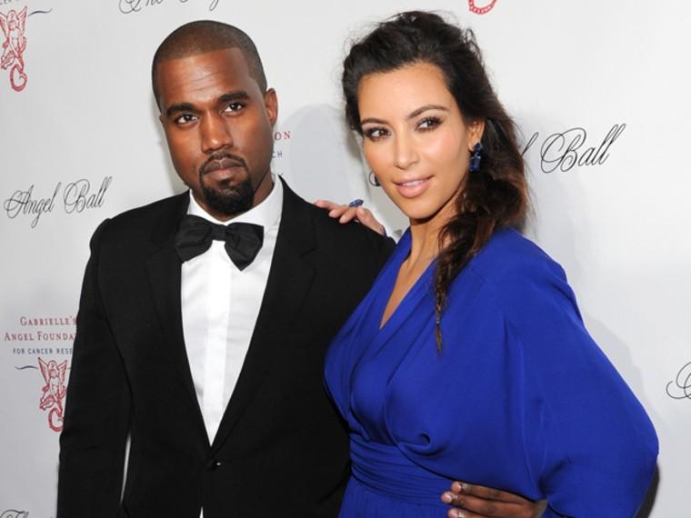 Image: Kanye West and Kim Kardashian