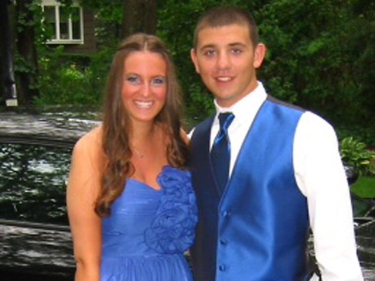 Nikki Stricker and her 2012 prom date.