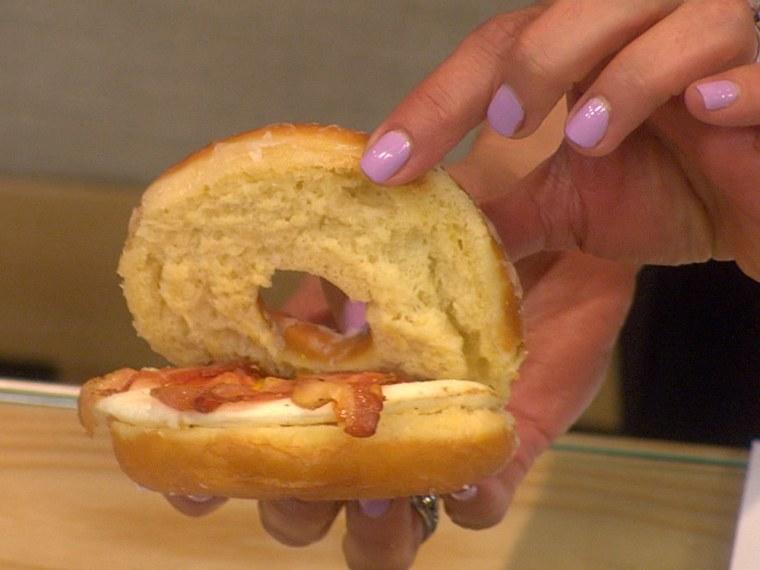 Glazed Donut Breakfast Sandwich