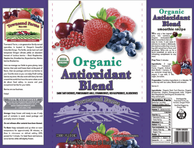This is one of three frozen berry mix products recalled by Townsend Farms of Fairview, Ore.