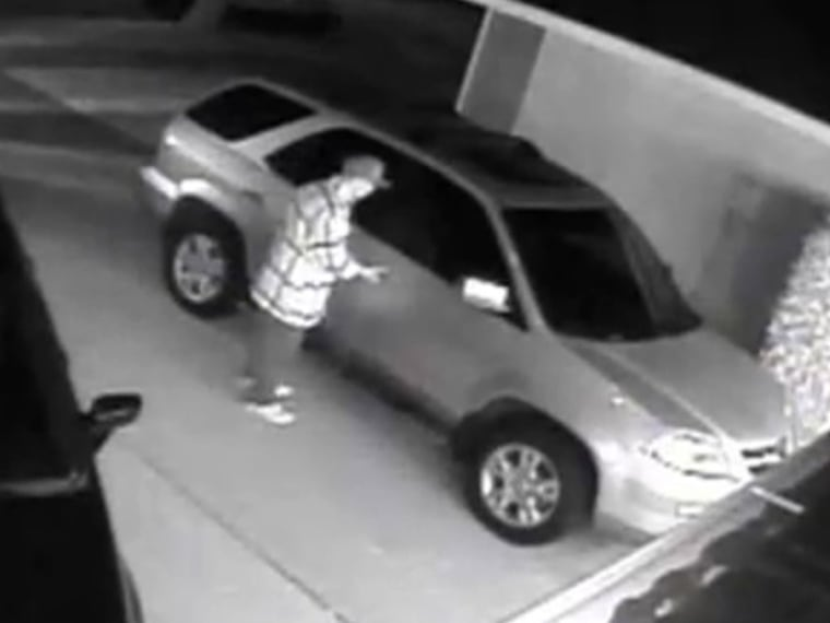 Thief uses mystery gadget to enter car.