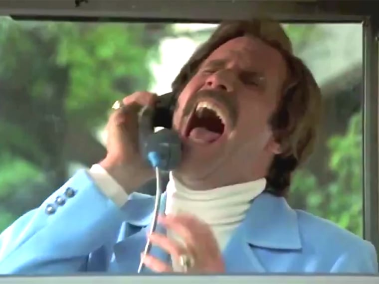 "Will Ferrell in ""Anchorman."""