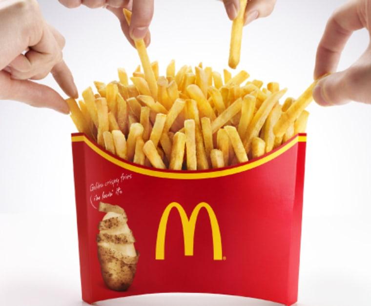 McDonald's is offering a belt-busting, 1,142-calorie serving of fries, dubbed Mega Potato, in Japan.