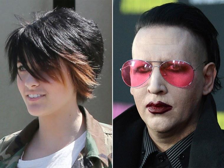 Paris Jackson, Marilyn Manson.