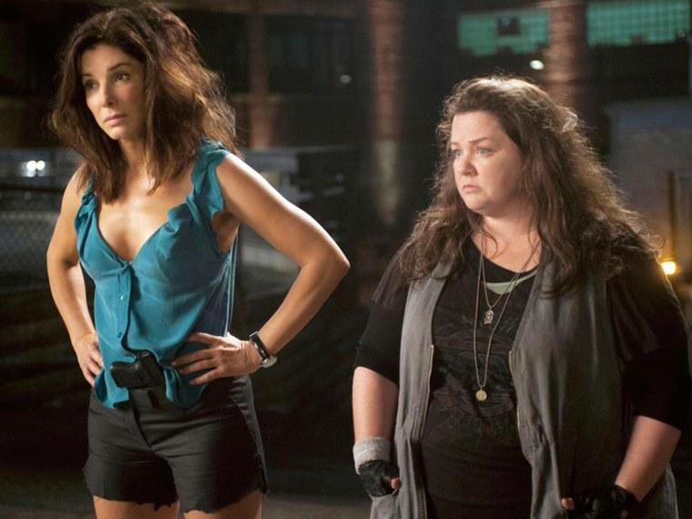"Sandra Bullock and Melissa McCarthy in \""The Heat.\"""