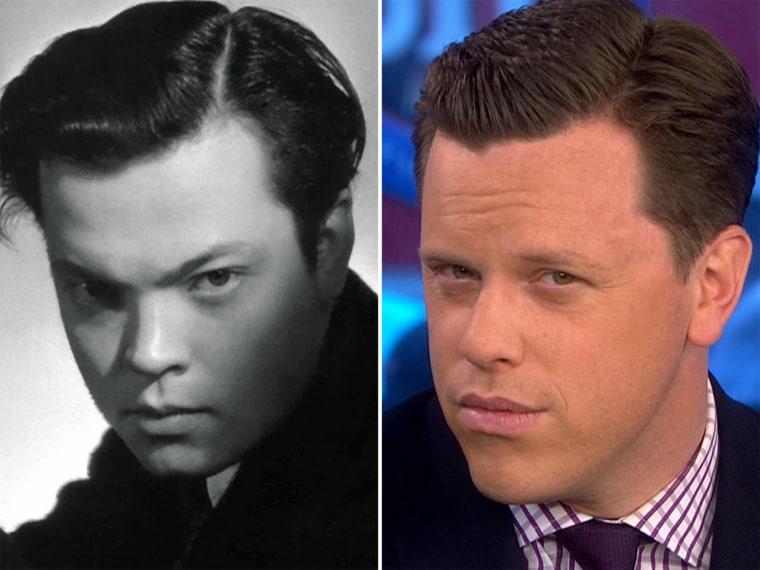 Willie Geist when deep into the past to imagine who would play him in a TODAY movie, as he bears a strong resemblance to a young Orson Welles.