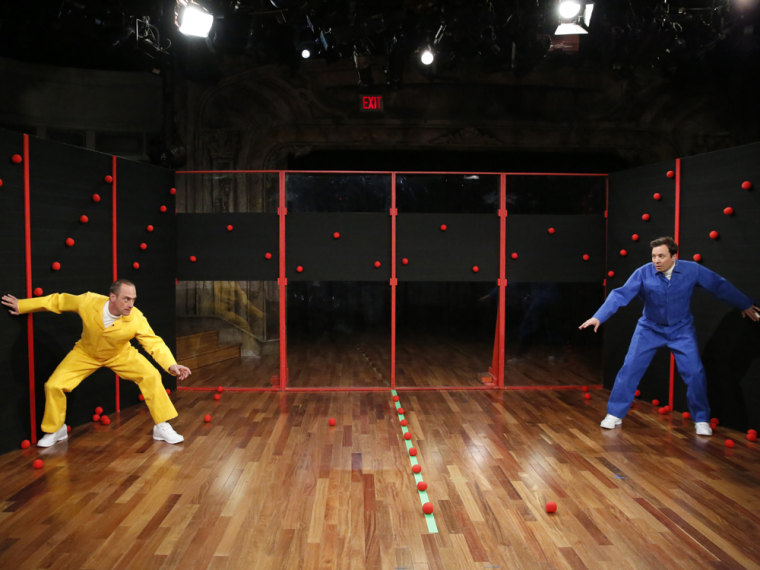 LATE NIGHT WITH JIMMY FALLON -- Episode 847 -- Pictured: (l-r) Christopher Meloni, Jimmy Fallon -- (Photo by: Lloyd Bishop/NBC)