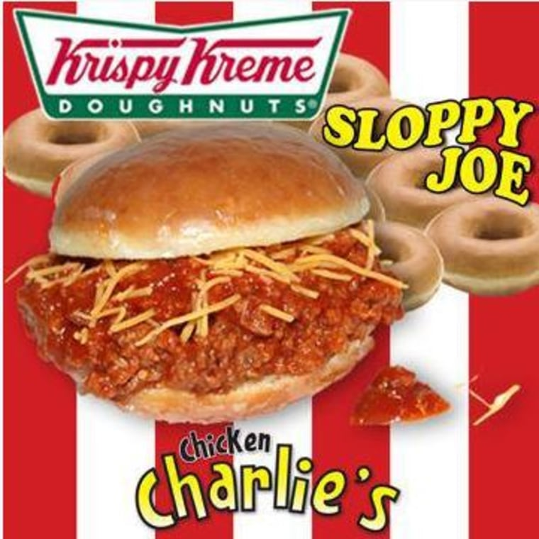 Chicken Charlie is boasting a new creation: the Krispy Kreme Sloppy Joe, yet another doughnut sandwich creation.