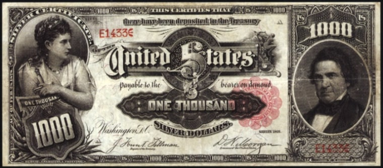 Image: Silver certificate that sold for $2.6 million