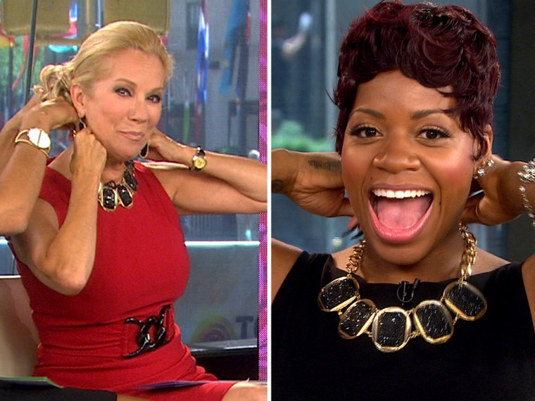 Kathie Lee handed over her necklace after Fantasia said she liked it.