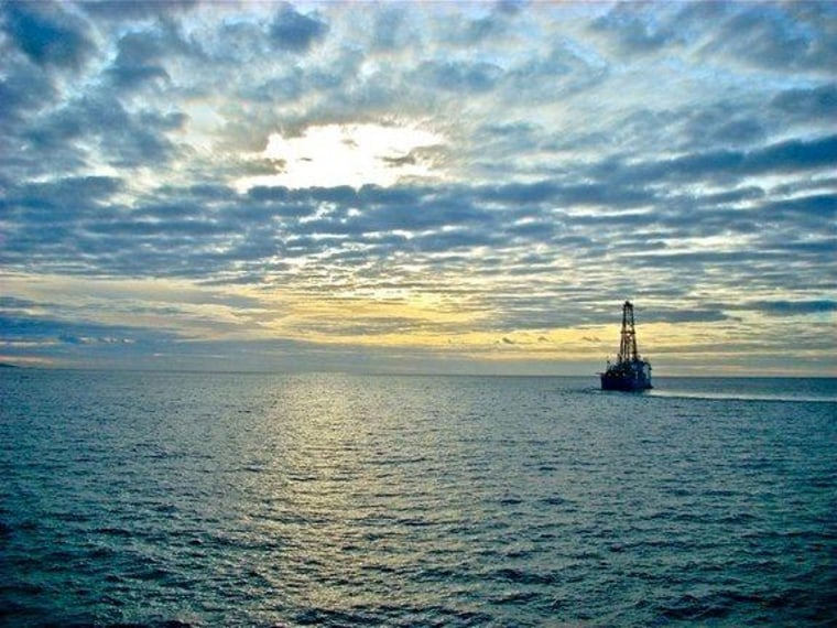 The Joides Resolution heads to sea from the Azores to drill sediments on IODP Expedition 339 offshore Peru. Most of the Earth's organic carbon is stored in seafloor sediments.