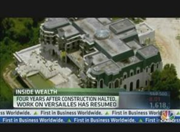 Construction has begun again on the largest private home in the U.S.