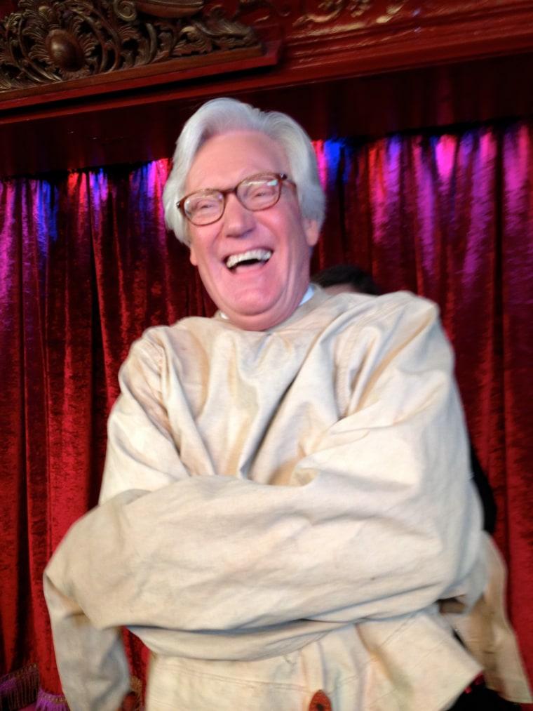 Bob Dotson in straitjacket