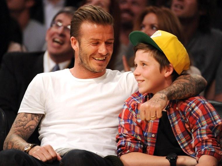 Image: David Beckham and son Brooklyn