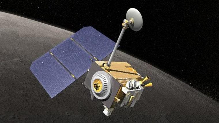 An artist's rendering of the Lunar Reconnaissance Orbiter spacecraft.