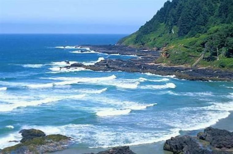 Until now, most seismic imaging of the ocean focused on depths below 500 feet. Now one marine geophysicist and her colleagues have devised a way to scan the upper ocean at depths of 30 to 500 feet. This photo shows the Oregon coastline.