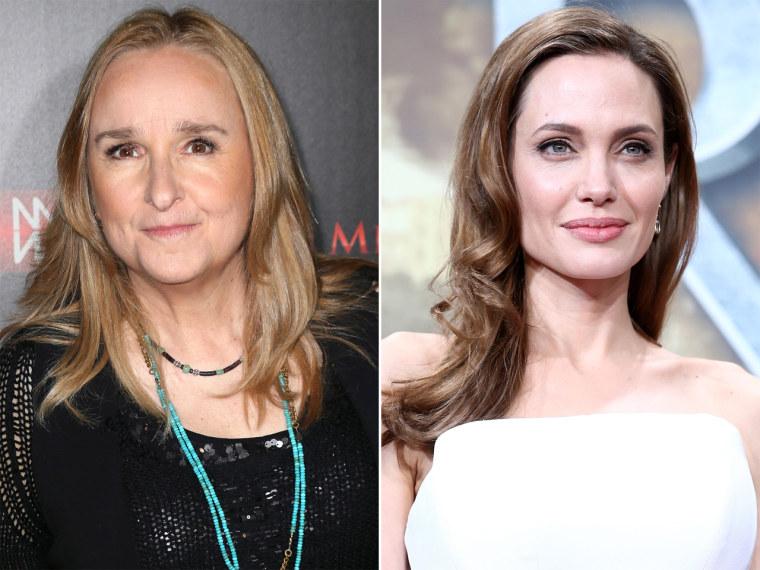 Image: Melissa Etheridge, Angelina Jolie.