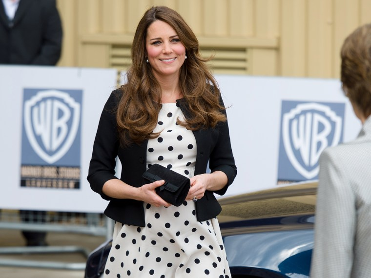 After Duchess Kate wore this affordable polka dot dress by retailer Top Shop, it sold out in one hour.