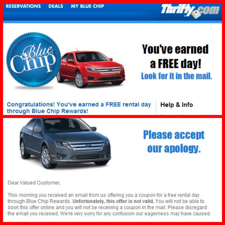 Thrifty email