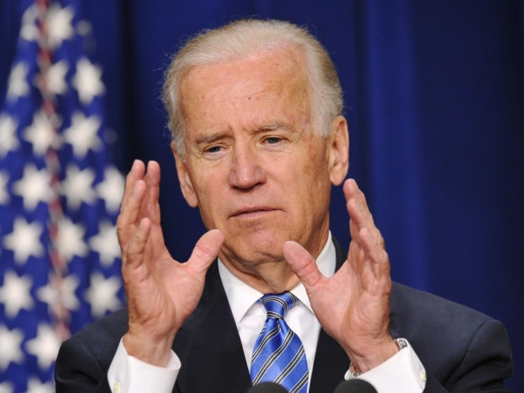 Vice President Joe Biden speaks on reducing gun violence in the South Court Auditorium of the Eisenhower Executive Office Building, next to the White House, on June 18, 2013 in Washington, D.C.