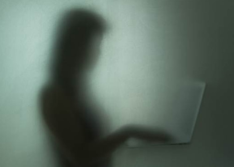 Shadowy figure, computer
